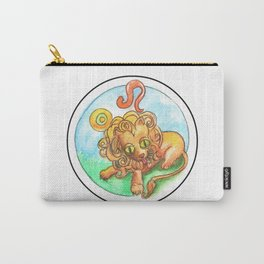 Whimsical Leo Lion Astrology Sun Sign  Carry-All Pouch