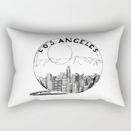 Los Angeles City in a Glass Ball Rectangular Pillow
