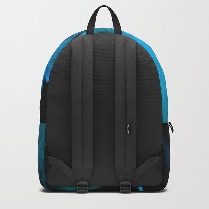 Shiny turquoise petals on a black background - #society6 #buyart Backpack