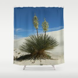 Soap Yucca In The White Sands Dunes Shower Curtain