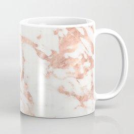 Marble - Metallic Rose Gold Marble Pattern Coffee Mug