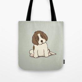 Saint Bernard Dog Illustration Tote Bag
