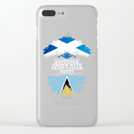 Scottish Grown With Saint Lucian Roots Clear iPhone Case