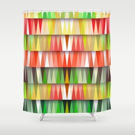 Colorful mosaic backdrop Shower Curtain
