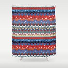 Japanese Tribal Design Shower Curtain