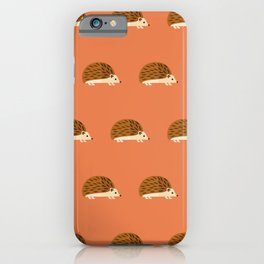 Hedgehogs on red iPhone Case