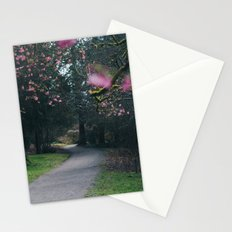 bench and blossoms Stationery Cards