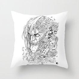 EREN TITAN DOODLE Throw Pillow