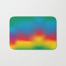 Abstract Colorful Aurora Bath Mat