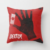 movie poster Throw Pillows featuring Dexter - Alternative Movie Poster by Stefanoreves