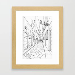 Narrow alley in Florence Framed Art Print