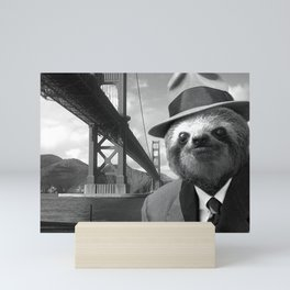 Sloth in San Francisco Mini Art Print