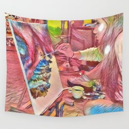 The Universe Inside My Head Wall Tapestry