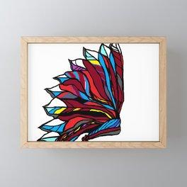 Native American Head-dress Framed Mini Art Print