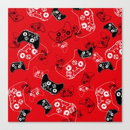 Video Game Red Canvas Print