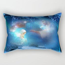 Holy Night - Christmas Art By Giada Rossi Rectangular Pillow