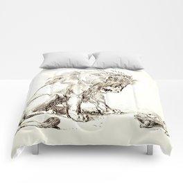 "Eugène Delacroix ""Lion and Tortoise"" Comforters"