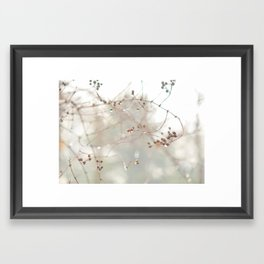 Berry Drops Framed Art Print