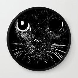 Broken Cat Wall Clock