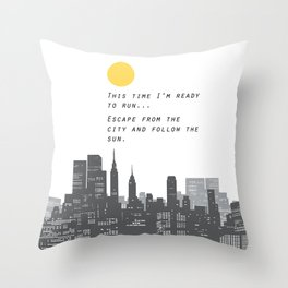 Escape from the City... Throw Pillow