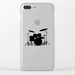 Drum Kit Clear iPhone Case