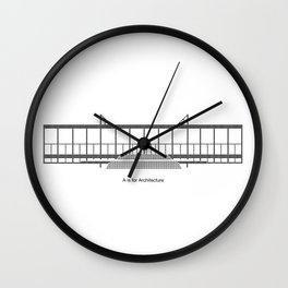 Mies - A is for Architecture Wall Clock