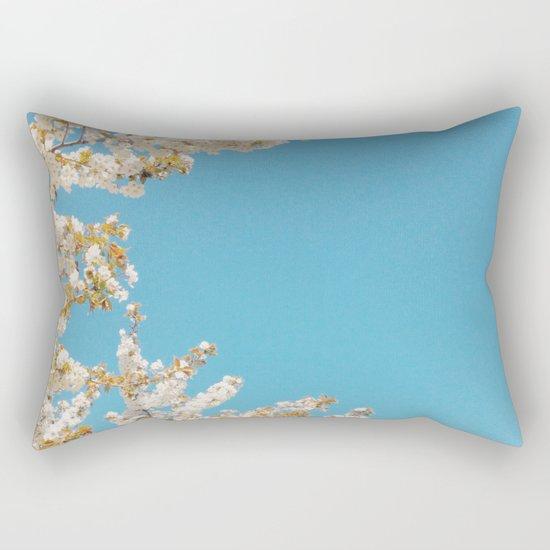Wave of Flowers Rectangular Pillow