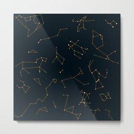 Bronze Constellations Metal Print