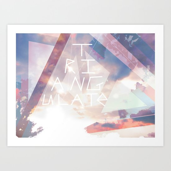 Triangulate Art Print