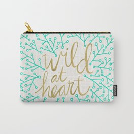 Wild at Heart – Turquoise & Gold Carry-All Pouch