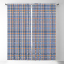 Blueberry checked pattern Blackout Curtain