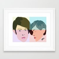 tegan and sara Framed Art Prints featuring TEGAN AND SARA  by NURUL A.