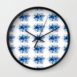 Blue Echeveria Succulent Wall Clock
