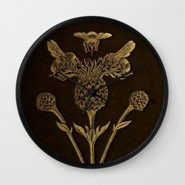 Bee And Thistle Wall Clock