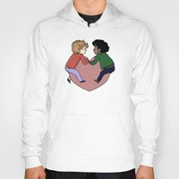 enjolras Hoodies featuring Enjolras and Grantaire in love by Antisepticbandaid