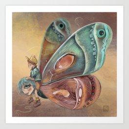 Papalloncita Art Print