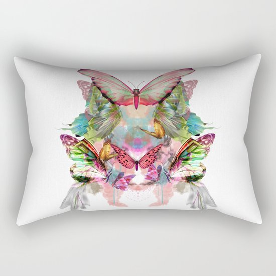 Butterfly Pattern Rectangular Pillow