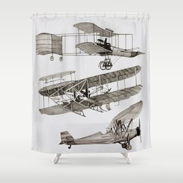 airplanes 3 Shower Curtain