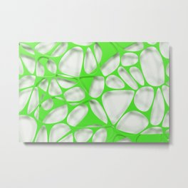 Green on white, organic abstraction Metal Print