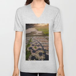 Floating House from the Dutch Unisex V-Neck