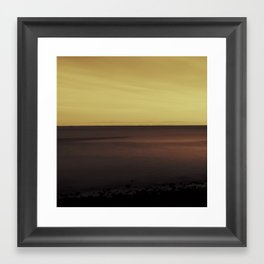 Bay Dark Framed Art Print