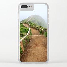 Empty walking trail Clear iPhone Case