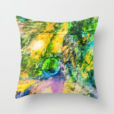 My Sister lives On The Large Green Planet Throw Pillow