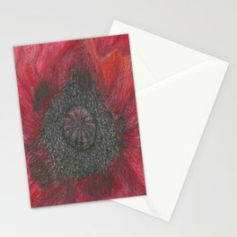 Heart of the Poppy by Candy Medusa Stationery Cards