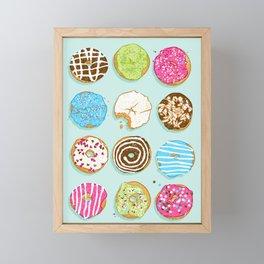 Sweet donuts Framed Mini Art Print