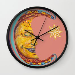 Peaceful Moon Wall Clock