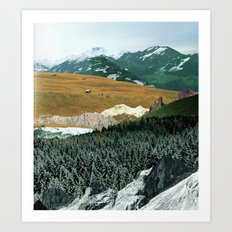 Experiment am Berg 21 Art Print