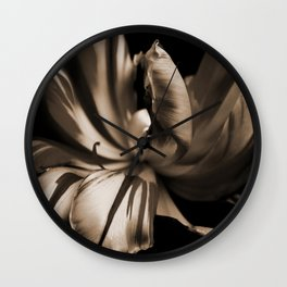 Tulip-sepia Wall Clock