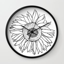 Mother Nature's Genius - Black Outline Graphic Art Wall Clock