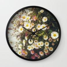 Wall of Daisies Wall Clock